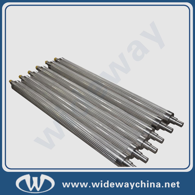 Grooved steel roller